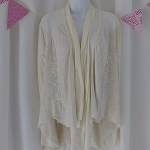 Anthropologie Tiny cardigan waterfall marled sheer